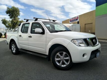 2012 Nissan Navara D40 MY11 RX (4x2) White 6 Speed Manual Dual Cab Pick-up Malaga Swan Area Preview
