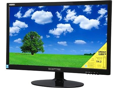 "شاشة ليد جديد SCEPTRE E225W-1920 Black 22"" 5ms HDMI Widescreen LED Backlight  LCD Monitor"