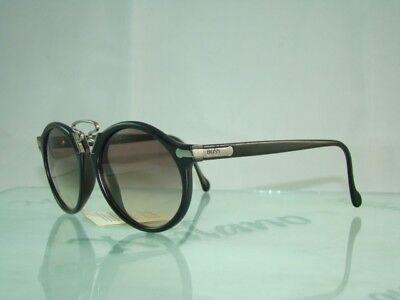 RARE HUGO BOSS CARRERA 5161 90 Vintage Black Sunglasses Brown Gradient Lens 52mm