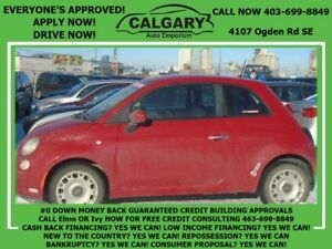2012 FIAT 500 POP SEDAN (RED) * $28 DOWN  EVERYONE APPROVED*