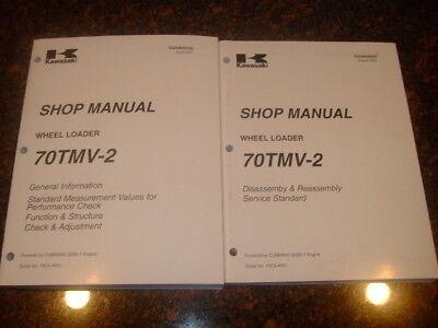 Kawasaki 70tmv-2 Wheel Loader Shop Service Manual