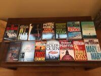 14 Crime Novels including Grisham, Harris, Patterson, and Billingham