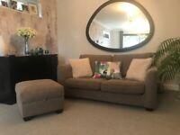 John Lewis Walton Medium Sofa and Footstool