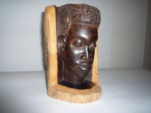 Ebony wood carving
