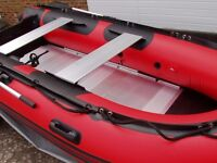 Brand New in box 3.8m inflatable boat dinghy tender rib aluminium deck v keel