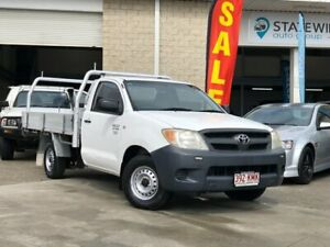 2005 Toyota Hilux TGN16R MY05 Workmate 4x2 White 5 Speed Manual Cab Chassis East Brisbane Brisbane South East Preview