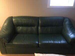 Green Leather Sofa Bed