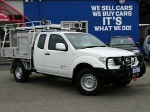2013 Nissan Navara D40 S7 MY12 RX King Cab White 5 Speed Automatic Cab Chassis Welshpool Canning Area Preview