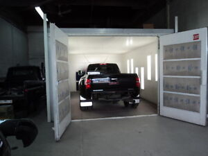 Fully equipped body shop plus building