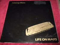 "Signed Johnny Mars ""Life On Mars Vinyl LP Record"