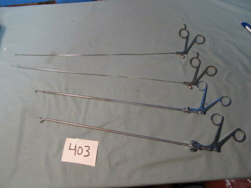 Lot of Storz & ACMI Grasping Forceps Surgical Instruments  (QTY-4)