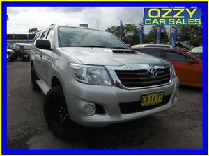 2014 Toyota Hilux KUN26R MY14 SR (4x4) Silver 5 Speed Manual Dual Cab Pick-up Penrith Penrith Area Preview
