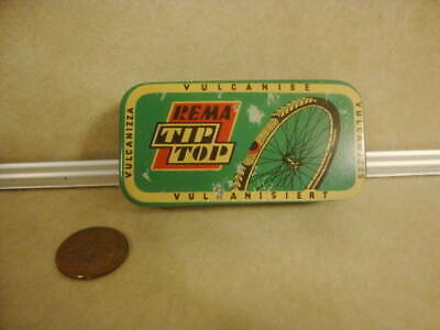Vintage Bicycle Repair Kit REMA Tip Top Advertising Tin Box Germany Collectible