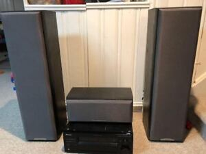 Pioneer 6.1 and Sony speaker Home Theater set up