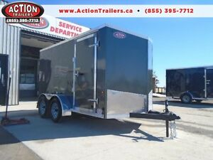 BUY DIRECT & SAVE 2017 6X12 TANDEM AXLE CARGO W/V-NOSE $4599