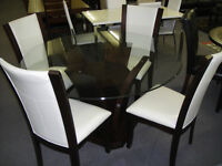 BRAND NEW 5PC GLASS TOP DINETTE*****REG $999.99