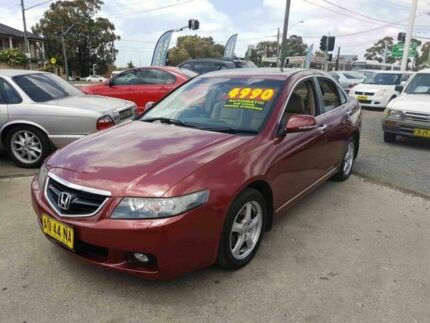 2004 Honda Accord Euro Luxury Red 5 Speed Sequential Auto Sedan
