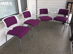 Steel Case Chairs x 4