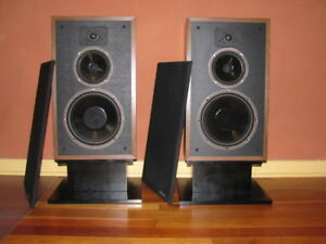 2 SPEAKERS POLK AUDIO MONITOR 7B PEERLESS TWEETER VINTAGE (MINT)