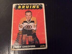 Rare 1965-66 O-Pee-Chee Gerry Cheevers rookie hockey card