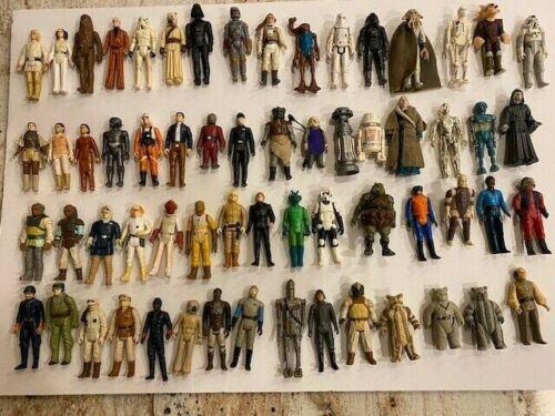 60+ Vintage Star Wars Figures W/ Lukes ,Leis, Fett, Solos, Ewoks Droids