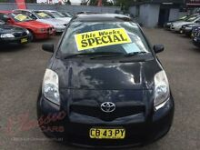 2008 Toyota Yaris NCP90R YR Black 4 Speed Automatic Hatchback Lansvale Liverpool Area Preview