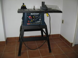 "Table Saw ""Mastercraft"", 13A motor and 10"" Blade"
