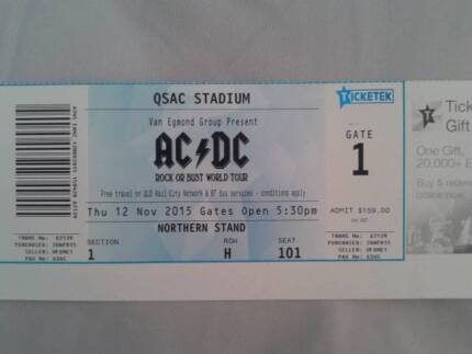 AC/DC TICKET Springwood Logan Area Preview