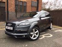 Audi Q7 3.0 TDI, S-Line, Grey, Full service history, Low miles, Panoramic roof, 7 seats