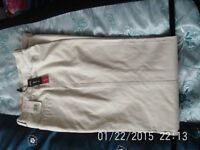 BN&T-M&S Mens Stone Coloured Tapered Trouers - Excel Cond.
