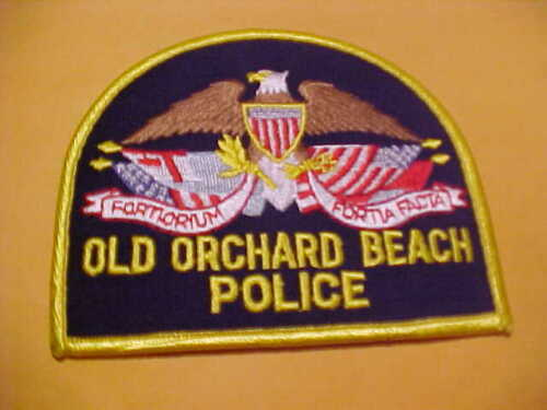 OLD ORCHARD BEACH MAINE POLICE PATCH SHOULDER SIZE UNUSED