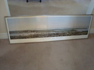 FRAMED PANORAMIC VANCOUVER VIEW PRINT 50''X16'' West Island Greater Montréal image 1