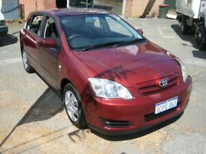 2005 Toyota Corolla ZZE122R Ascent Red 4 Speed Automatic Sedan Bedford Bayswater Area Preview