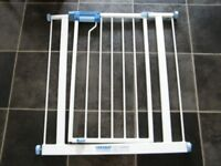 Pair of Lindam Stair/Door guards with extensions for sale.