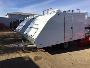 Polaris 2 Place Enclosed Snowmobile Trailer