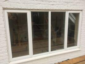 Double Glazed Window 4 panel, white