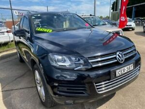 2012 Volkswagen Touareg 7P MY12.5 V6 TDI Tiptronic 4MOTION Black 8 Speed Sports Automatic Wagon Wickham Newcastle Area Preview