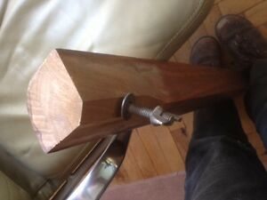 Solid walnut table with brass feet St. John's Newfoundland image 9