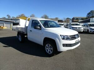 2016 Volkswagen Amarok 2H MY16 TDI400 4Mot White 6 Speed Manual Cab Chassis Nowra Nowra-Bomaderry Preview