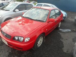 2000 Toyota Corolla AE112R Ascent Seca Red 5 Speed Manual Liftback Winnellie Darwin City Preview
