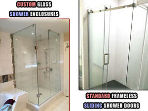 Custom Glass Shower Enclosures / Frameless Sliding Shower Doors