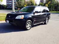 2004 HONDA PILOT WITH 158K KMS / BLACK / LEATHER