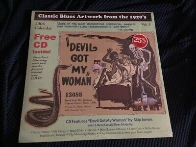 Classic Blues Artwork from the 1920's, Vol. 3 2006 NEW Calendar + CD 16 trax (Classic Blues Artwork From The 1920s Calendar)