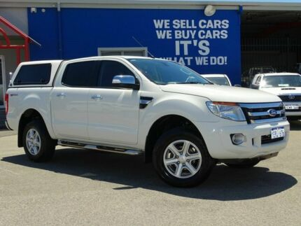 2014 Ford Ranger PX XLT Double Cab 4x2 Hi-Rider White 6 Speed Sports Automatic Utility Welshpool Canning Area Preview