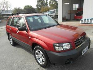 2004 Subaru Forester MY04 X Maroon 4 Speed Automatic Wagon Woodville Charles Sturt Area Preview