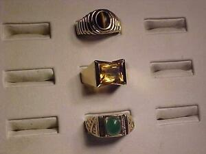 #3144/3145/3146-FOR THAT BIG GUY -Sizes 13 1/4 & 14- Y/Gold-CATS EYE-JADE-CITRINE-WILL SHIP CANADA-ACCEPT EBANK TRANS
