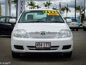 2005 Toyota Corolla ZZE122R 5Y Ascent White 4 Speed Automatic Sedan Garbutt Townsville City Preview
