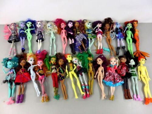 6+ Lb Bulk Lot of Loose, Assorted, Mattel Monster High Dolls - LOT