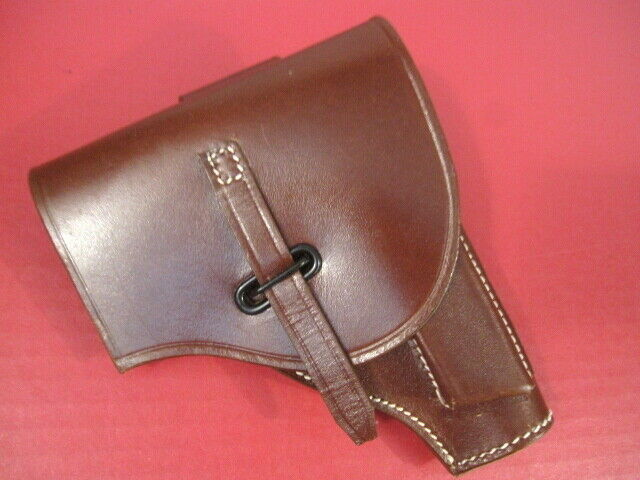 WWII Italian Italy Brown Leather Holster for Beretta 1934 or 1935 Pistol - Repro