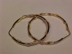 #1015-LARGE 18K ITALIAN MADE HOOP EARRINGS-Free shipping in CANADA ONLY WILL ACCEPT EMAIL BANK TRANSFER ONLY